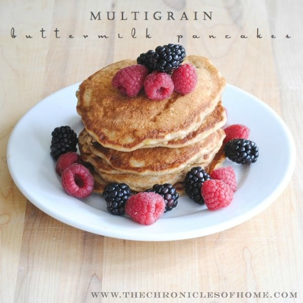 Multigrain Buttermilk Pancakes - a healthy and satisfying breakfast