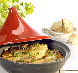 Tajine van kip met abrikoos en kikkererwten - Recept » Colruyt Culinair