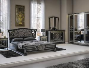 Спальня Винтаж цвет черный фабрика ИнтерДизайн