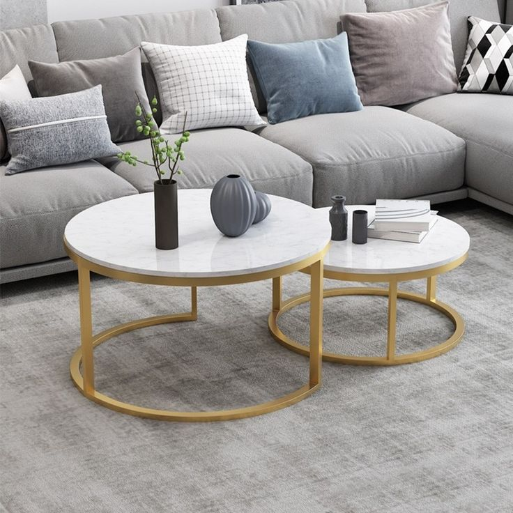 30++ White and gold coffee table round trends