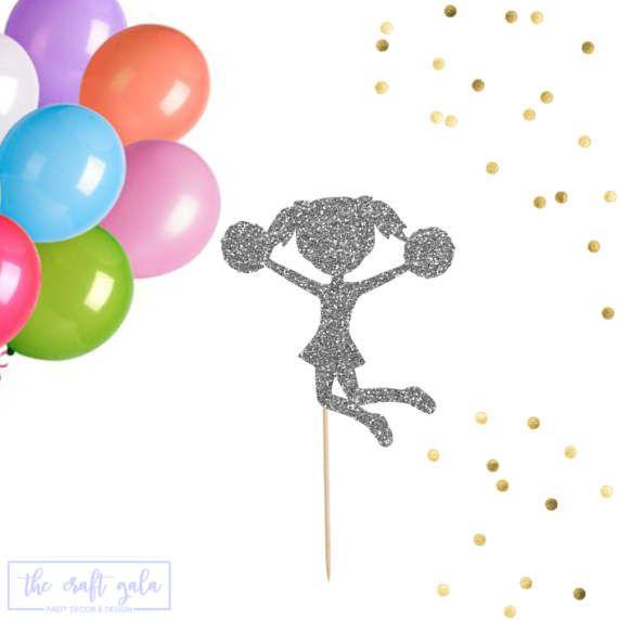 Animadora de la torta juego de 3 Cheerleading de la torta