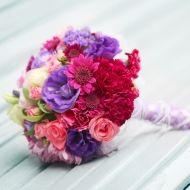 Warm Pastel Bridal Bouquet - Bunches Direct