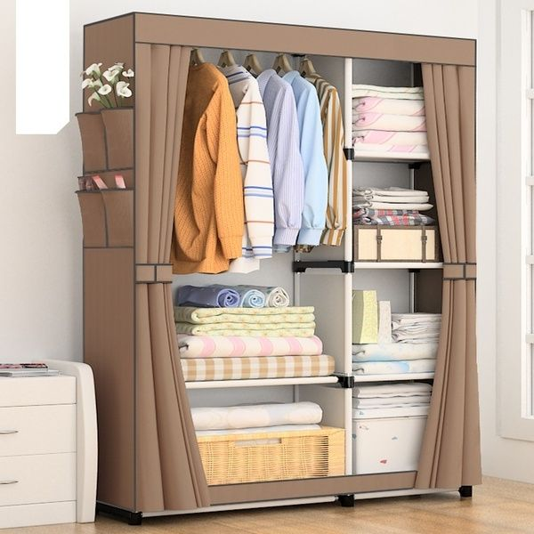 Portable Clothes Closet Non Woven Fabric Wardrobe Storage Organizer Wish Diy Furniture Bedroom Closet Clothes Storage Wardrobe Storage Cabinet