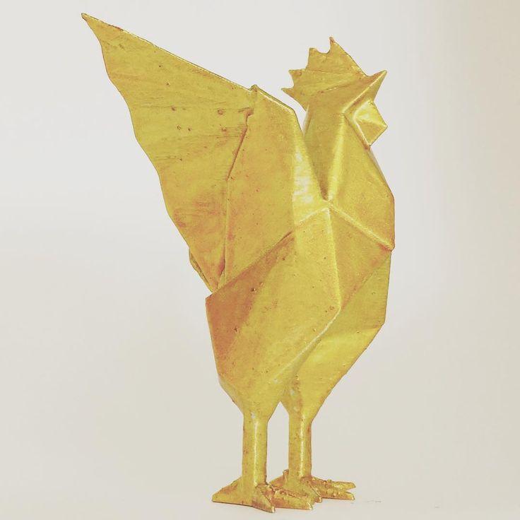 3dprinter 3dprinting 3dmodel bird rooster origami origamix statue unindustrial. Black Bedroom Furniture Sets. Home Design Ideas