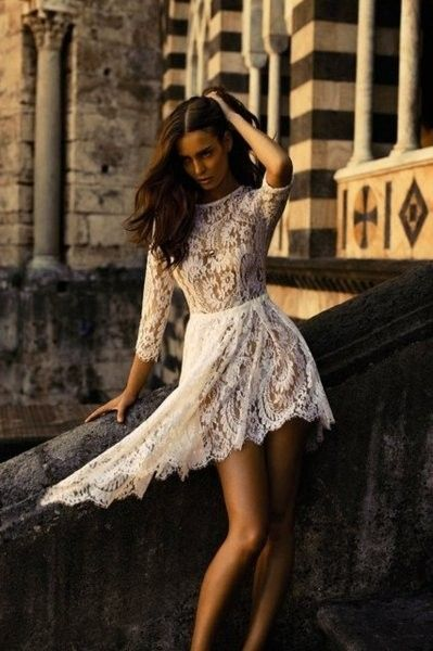 Lacy Short Dress by Rita Art