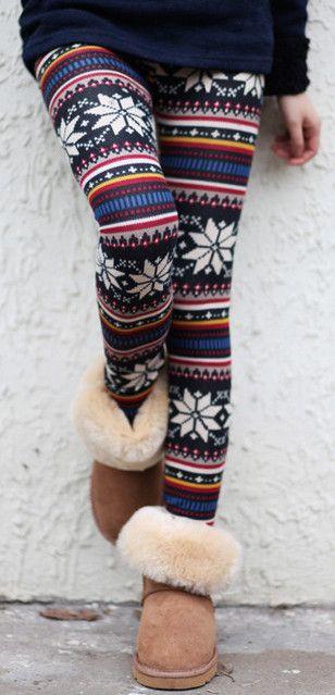 Snowflake leggings