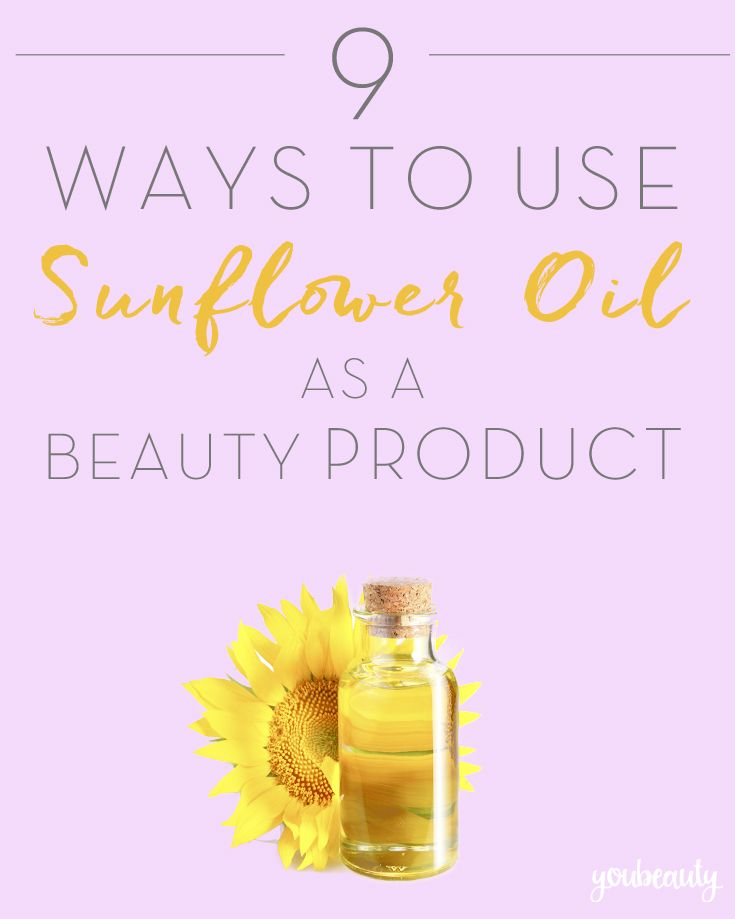 Hair, face and body can all be served by some DIY sunflower oil beauty products.