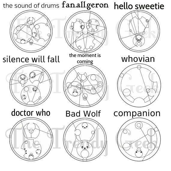 Doctor Who words/phrases in Gallifreyan | The Trendy Geek