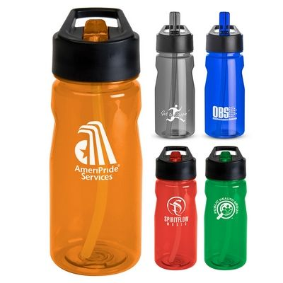 Promotional 19 oz Notched Tritan Loop Water Bottle Item #WB1755 (Min Qty: 100). Customize your Promotional Water Bottles with your company logo and with no setup fees.