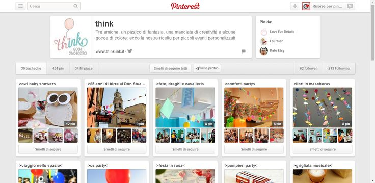 think profile on Pinterest; think is a group of italian event planners