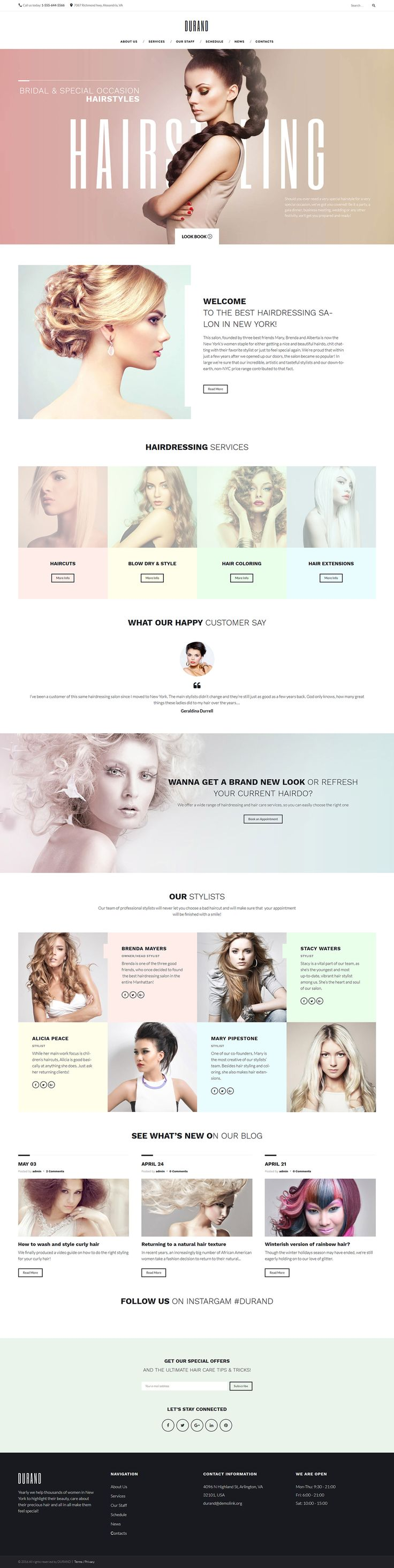 Check out this stylish Hair Salon WordPress Theme, and use it to create your own responsive beauty blog, magazine or business website.Build pages easily and without touching a single line of code with our flexible power Builder. Take advantage of 25  modu�