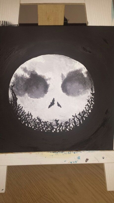 Jack - Nightmare before Christmas. Disegno con tempeta