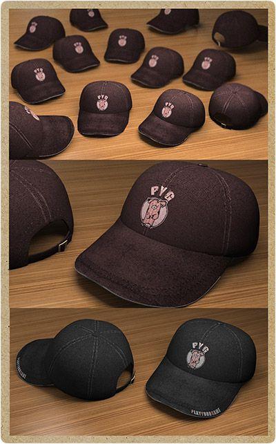 Anteprima cappellini 3d, per studiare il modello, i colori e il posizionamento del logo. Realizzato da P.Y.G. Italy