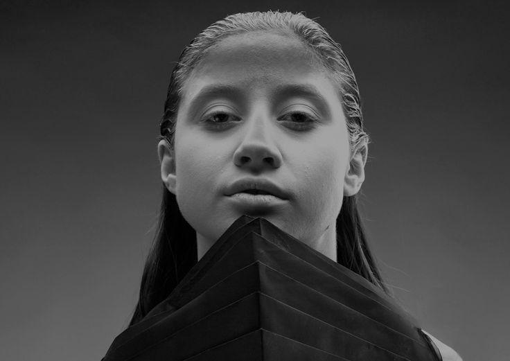 "Paper Dress from ""OKKULT"", the 2013 collection by swiss/swedish designer SARA BURKHARD."