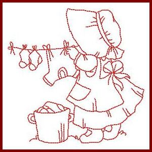 Little Helper Sunbonnets - Free Instant Machine Embroidery Designs