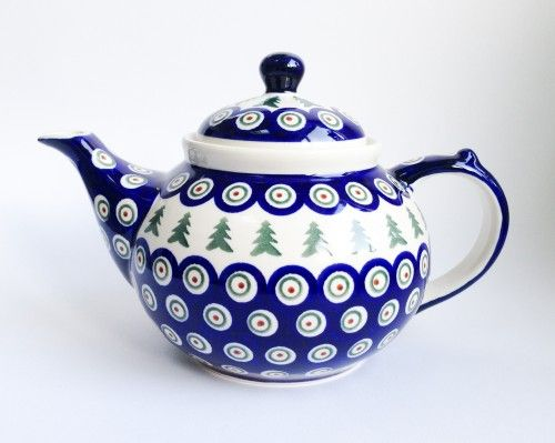 Teapot 1.25l #Boleslawiec #polishpottery #potterycorner