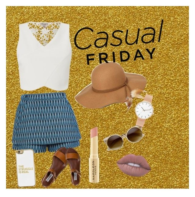 """""""casual Friday♡"""" by melissa-torres-velez on Polyvore featuring Maje, Steve Madden, BaubleBar, Lime Crime, ASOS Curve, Napoleon Perdis and Lipsy"""