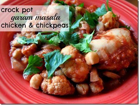 Crock Pot Garam Masala Chicken and Chickpeas- Peanut Butter Fingers