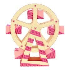 Resultado de imagen para ruedas dela fortuna rosadas para mesa de dulces
