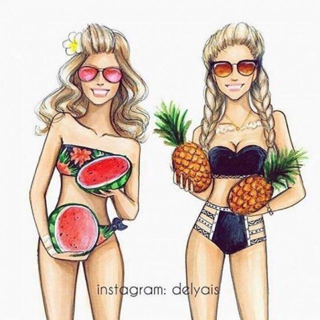 Maillot De Bain Hairstyles Hairstyles Drawing En 2020 Illustration De Mode Image De Meilleure Amie Dessin Amitie