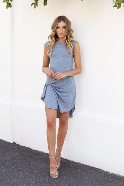 Madison Square Clothing - Epiphany Dress - Blue