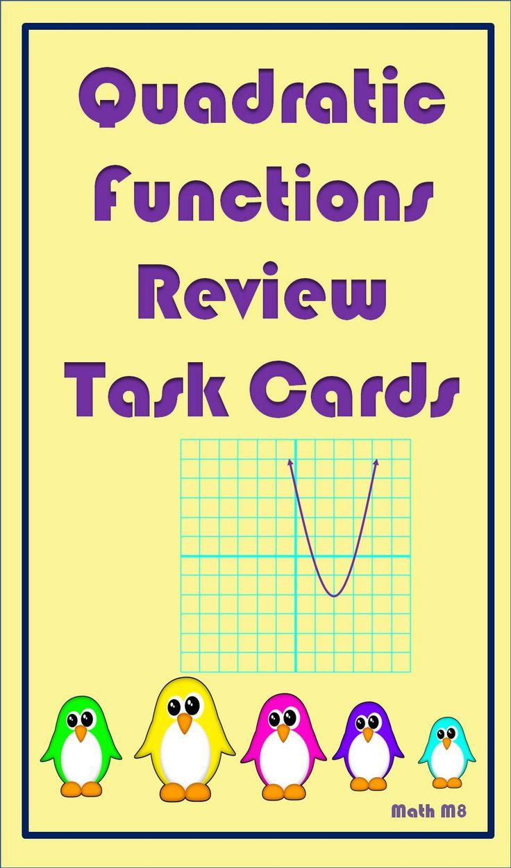 14 best quadratic functions graphs review task cards images on 30 task cards to review quadratic functions falaconquin
