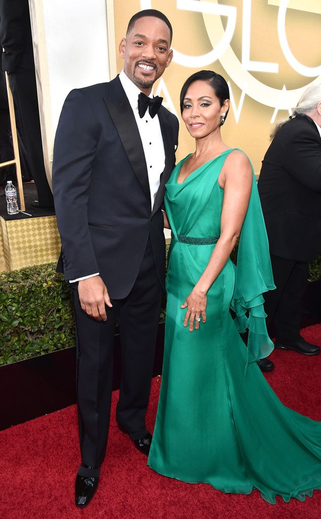 Will Smith & Jada Pinkett Smith from Couples at the 2016 Golden Globes  Lookinggood, guys!