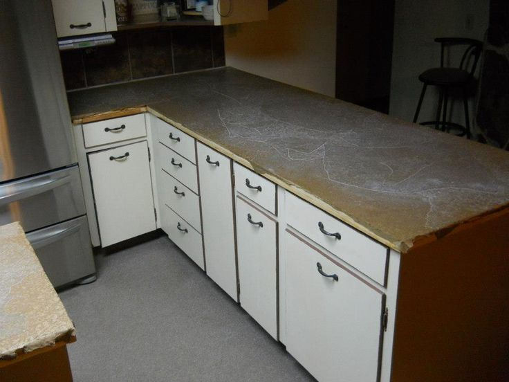 Refinished Counter Tops With Paper