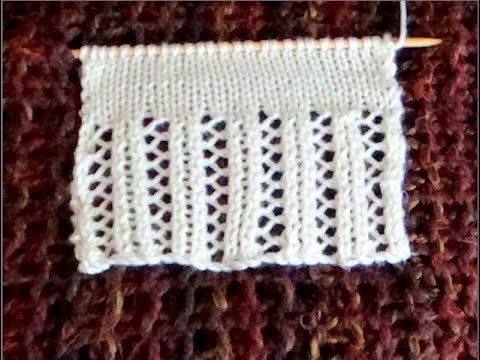 Cómo Tejer BORDE ELEGANTE - Knitted Lace Edgings 2 Agujas (384) - YouTube
