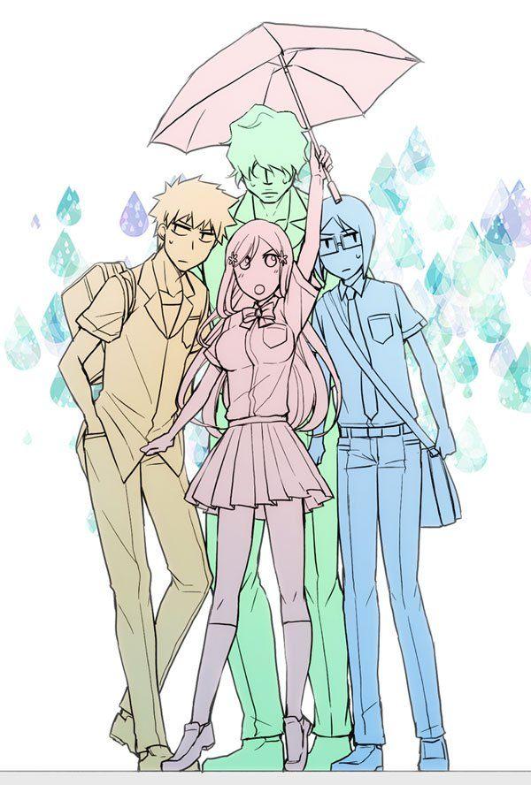 Bleach// Ichigo,Orihime,Ishida and Chad