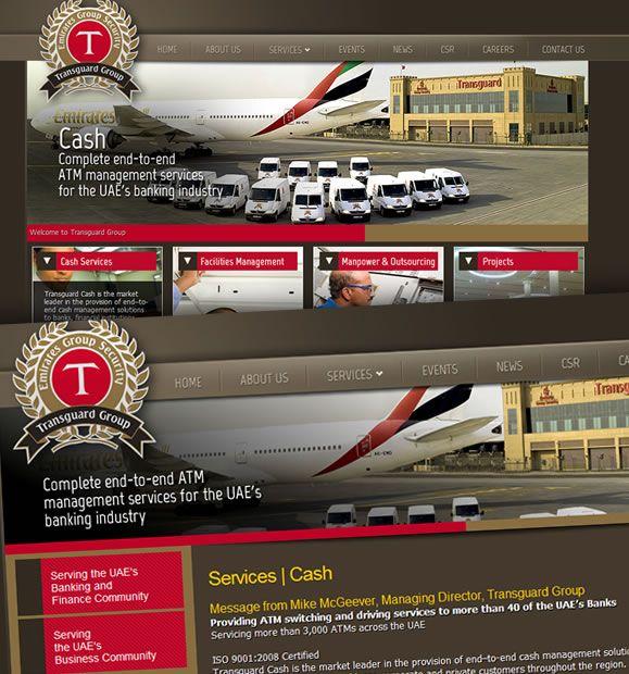 Transguard Group: Nueva web para la compañía de Emirates Group