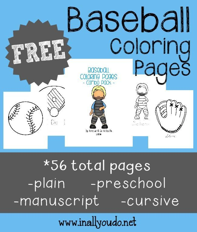 If your kids enjoy sports, they will love these fun Baseball Coloring Pages!! 56 total pages with fun handwriting practice for PreK to 5th grade!!