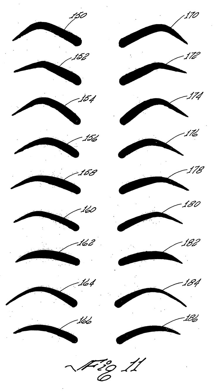 227 best images about blythe customization on pinterest for Printable eyebrow stencil template