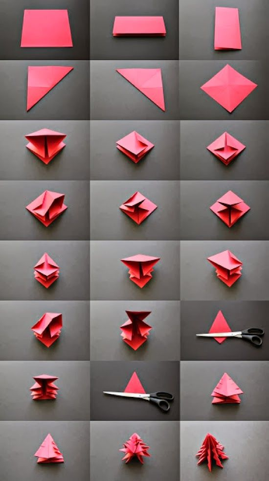 TO DIY OR NOT TO DIY: ÁRVORES DE NATAL ORIGAMI