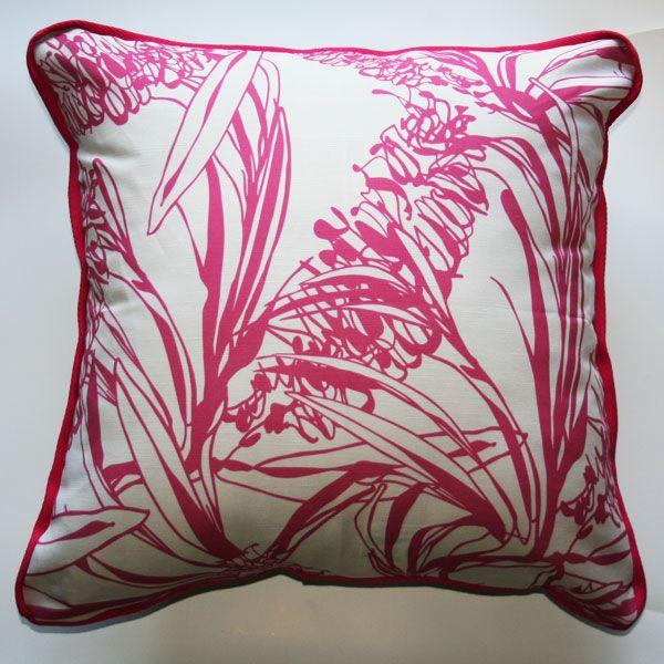 Cushion Banksia Bush Pink - Katz Designer Textiles