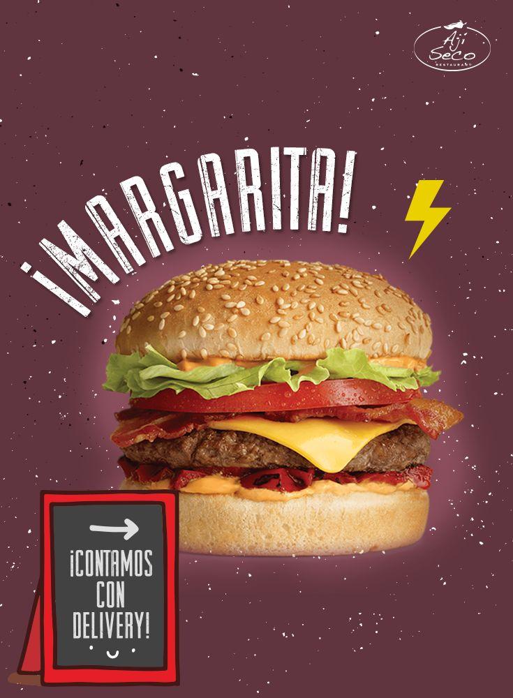 Hamburguesa Rellena Margarita, cuando ella llega las ganas por comerla se apoderan de ti. ¡Devórala!