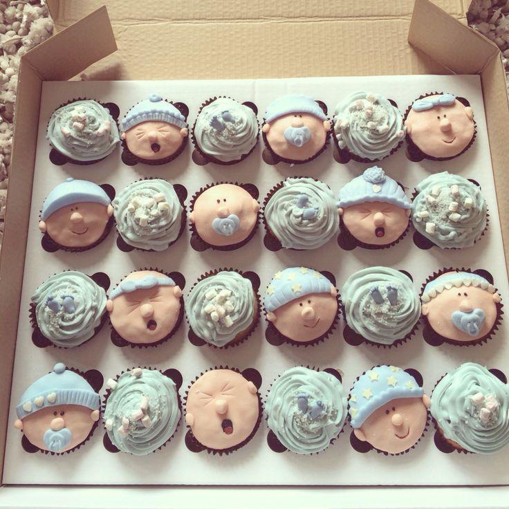 Baby shower 24 piece cupcake set