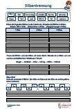 #Silbentrennung #Arbeitsblaetter / Übungen / Aufgaben für den #Grammatik- und Deutschunterricht - Grundschule.  Ordne die Lernwörter in die Tabelle ein und schreibe sie in Silben auf. Trenne die Lernwörter nach den Silben mit einem Strich, schreibe sie in Silben auf und markiere Selbstlaute / Vokale oder Doppellaute / #Diphthonge. Silbenrätsel - suche die passenden Silben zusammen und schreibe sie als Wort auf.