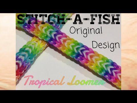 Rainbow Loom - Original Design : Stitch-a-fish | Monster Tail Tutorial