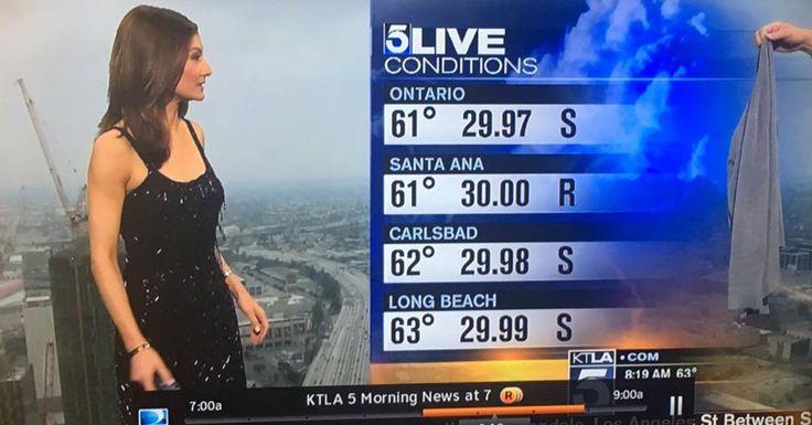 KTLA Meteorologist Handed a Sweater During Scandalous Weather Report