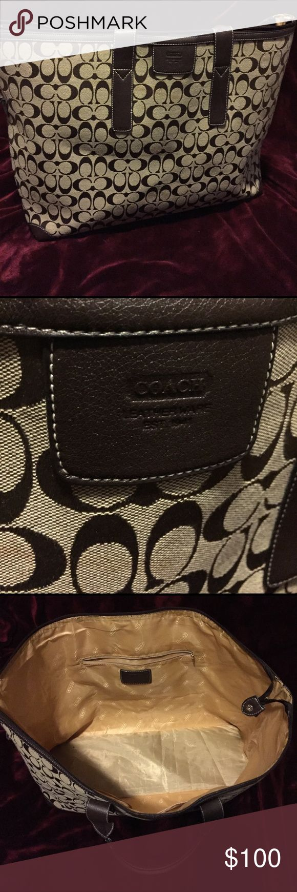 COACH travel bag/duffle Very large COACH travel bag. Can be an overnight bag or carry on bag Coach Bags Totes