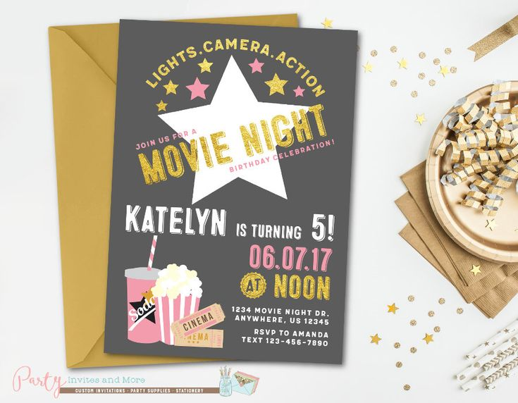 Best 25+ Movie night invitations ideas on Pinterest Movie party - movie themed invitation template