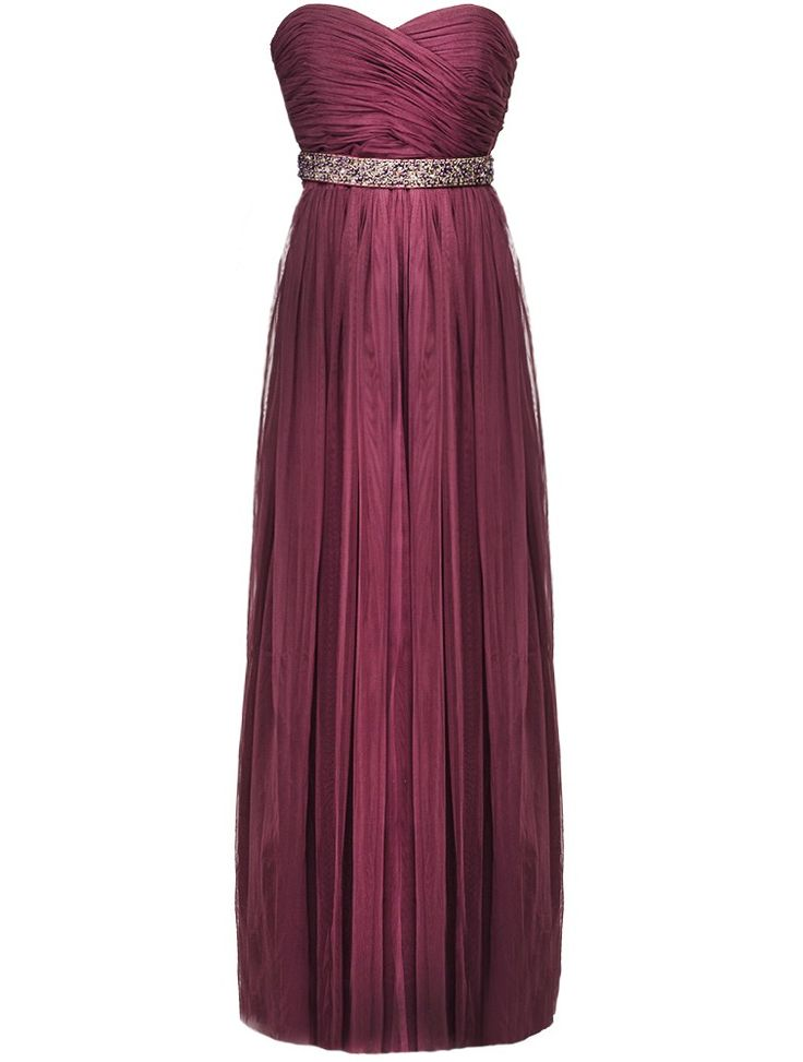 Dark Roseberry / Wine Red Monique Tulle Maxi Dress Wear it 8 Ways!