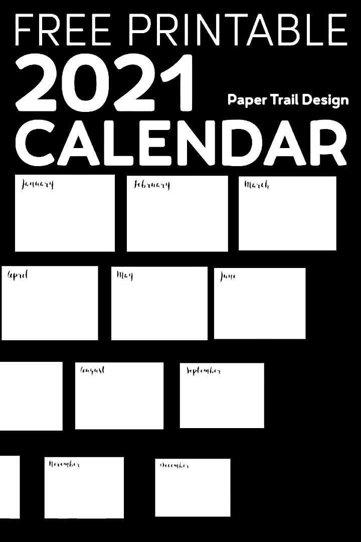 2021 free printable calendar template the perfect basic