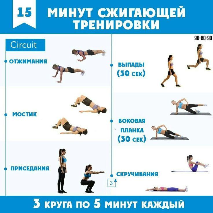 План круговой тренировки для похудения