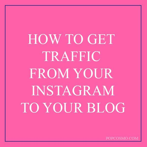 Working with Instagram now? Some good pointers on how to drive traffic from Instagram to your blog or webpage...