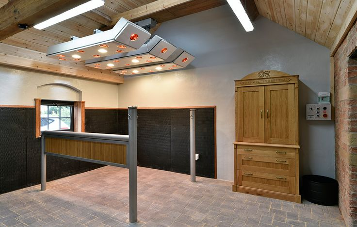 Gornall Equestrian Stables, Yorkshire. Do you see those heat lamps??? I need those in my life!!