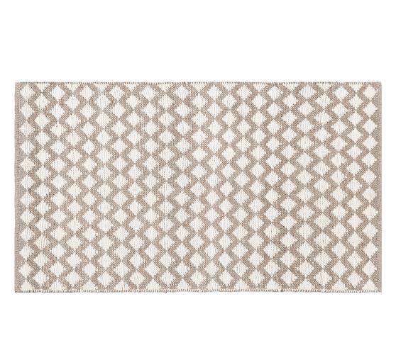 Diamond Wool Rug - Ivory