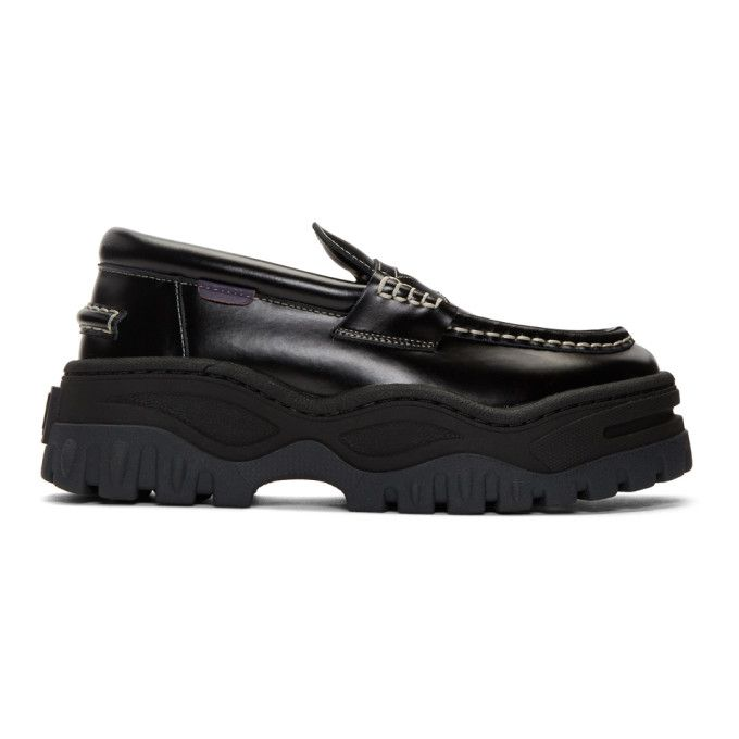 EYTYS Black Leather Angelo Loafers