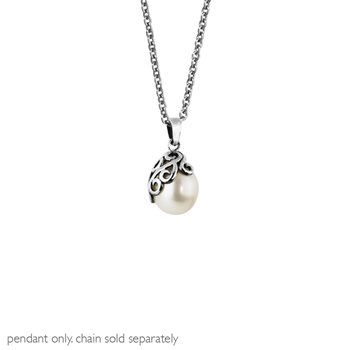 Pearl Devotion Pendant-  This graceful white pearl embodies the purest love, the ultimate devotion of one soul to another... NZ silver pendant - evolve-jewellery.co.nz